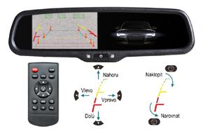AK-043LAD monitor v zrcátku Nissan, Renault - nastavení vodících linek