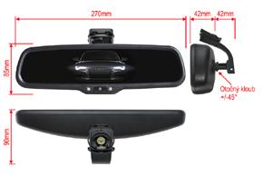 AD-10D vnitřní ztmívací zpětné zrcátko Hyundai / Kia... - rozměry