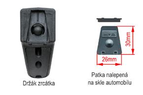 AD-10D vnitřní ztmívací zpětné zrcátko Fiat - detail konzole a patky na skle