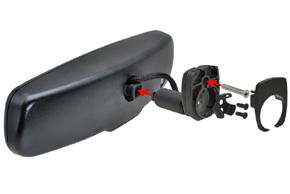 AD-10D vnitřní ztmívací zpětné zrcátko BMW / Peugeot - sestavení konzole a zrcátka