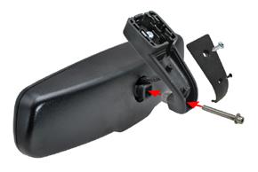 AD-10D vnitřní ztmívací zpětné zrcátko - sestavení zrcátka a patky