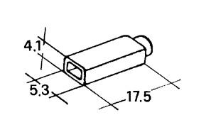 Kryt dutinky 2,8mm bílý