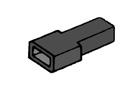 Kryt dutinky 4,8mm černý