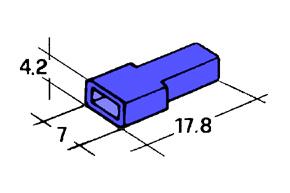 Kryt dutinky 4,8mm modrý