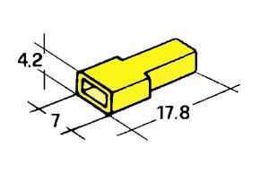 Kryt dutinky 4,8mm žlutý