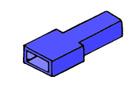 Kryt dutinky 6,3mm modrý
