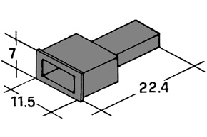 Kryt kolíku 6,3mm černý