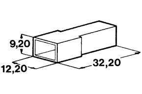 Kryt kolíku 6,3 mm