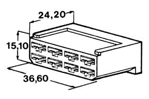 Kryt 8 ks dutinky 6,3 mm