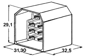 Kryt 11 ks kolíku 6,3 mm