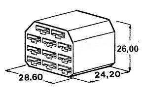 Kryt 11 ks dutinky 6,3 mm