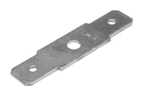 Nýtovací konektor 6,3mm - dvojitý rovný