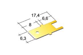 nýtovací konektor 6,3mm - do tištěných obvodů