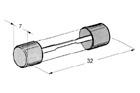 Trubičkové skleněné pojistky 32x6,3mm