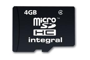 Micro SDHC 4GB paměťová karta