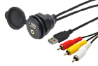 USB / JACK 4pól. zásuvka s kabelem