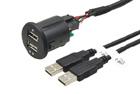 2x USB zásuvka s kabelem