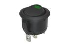 Kolébkový spínač kruhový s LED zelená