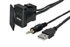 USB + JACK zásuvka s kabelem