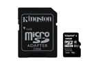Paměťová karta Kingston 16GB  + adaptér SD