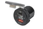 Adaptér 12V -> USB 2,4A + USB C + V-metr